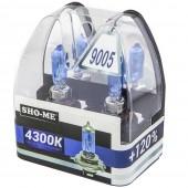 Галогеновая лампа Sho-Me HB3 (9005) +120% 4300К