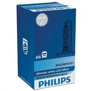 Штатная ксеноновая лампа Philips D1S Xenon White Vision gen2 85415WHV2C1 35w 5000k