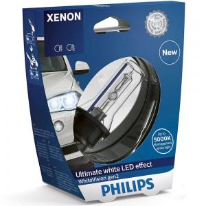Штатная ксеноновая лампа Philips D1S Xenon White Vision gen2 85415WHV2S1 35w 5000k
