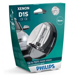 Штатная ксеноновая лампа Philips D1S Xenon X-tremeVision gen2 85415XV2S1 35w 4800k