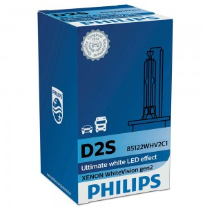 Штатная ксеноновая лампа Philips D2S Xenon WhiteVision gen2 85122WHV2C1 35w 5000k