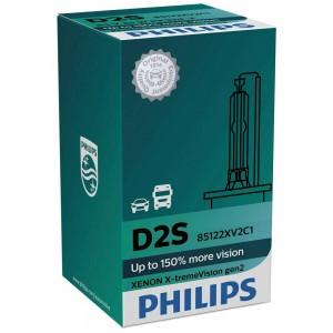Штатная ксеноновая лампа Philips D2S Xenon X-tremeVision gen2 85122XV2C1 35w 4800k