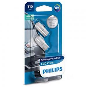 Светодиодная лампа LED Philips T10 12791B2 4500k 12v B2