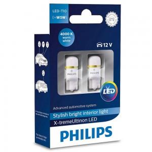 Светодиодная лампа LED Philips X-Treme Vision T10 12799LED 1LED 12v W2,1X9,5d 1w 4000k