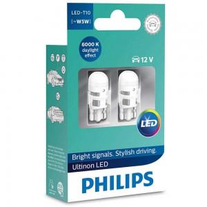 Светодиодная лампа LED Philips Ultinon T10 11961ULWX2 6000k 12v B2