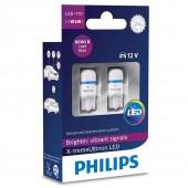 Светодиодная лампа LED Philips X-Treme Vision T10 12799LED 1LED 12v W2,1X9,5d 1w 8000k