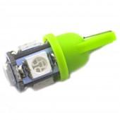 Светодиодная лампа LED Galaxy T10 (W5W) 5050 5SMD (Зеленый)
