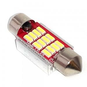 Светодиодная лампа LED Guarand C5W (SV8,5) 5630 12SMD Canbus 36мм 3w 12-24v (Белый)