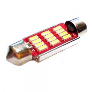 Светодиодная лампа LED Guarand C5W (SV8,5) 5630 12SMD Canbus 39мм 3w 12-24v (Белый)