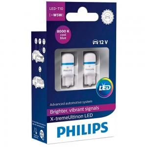 Светодиодные лампы LED Philips X-tremeUltinon LED T10 12799LED 12v W2,1X9,5d 1w 8000k