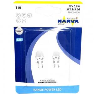 Светодиодная лампа LED Narva Range Power T10 (W5W) 18003-02B 12v 1w 6000k W2,1x9,5d