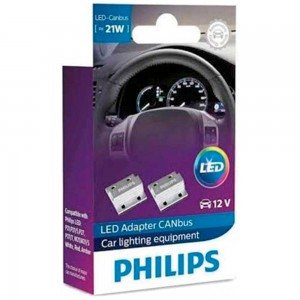 Обманка Philips LED CAN PY21W/W21W 21W 18957X2