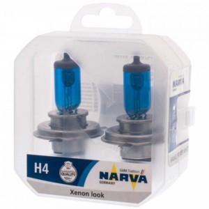Галогеновые лампы Narva Range Power White H4 48680 12V 60/55W P43t Twin Set