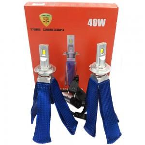 Светодиодные лампы LED TBS Design T40 G-XP H7 6500k 8000Lm 40w 12-24v