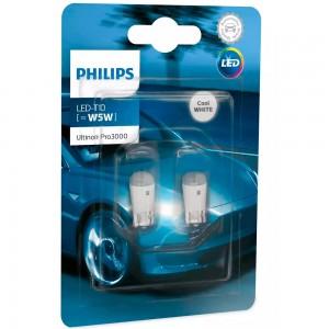 Светодиодные лампы LED Philips Ultinon Pro3000 SI T10 11961U30CWB2 6000k 12v