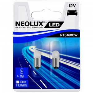 Светодиодные лампы LED Neolux T4W NT0460CW-02B 12v 0.5w 6000k BA9S