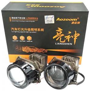 "Светодиодные линзы Bi-LED Aozoom A9+ 3.0"" 5500k 7000lm 52w 12v"