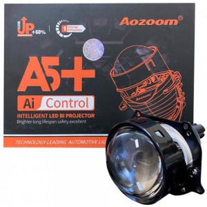 """Светодиодные линзы Bi-LED Aozoom A5+ 2.5"""" 5500k 42w 12v"""