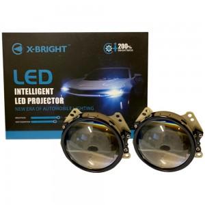 """Светодиодные линзы Bi-LED X-Bright T7 Trustfire 3.0"""" 5500k 5800lm 60w 12v"""