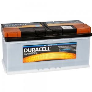 Автомобильный аккумулятор Duracell DA110 АкБ 110Ah 12v R EN900A 394x175x190