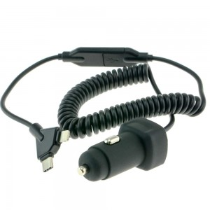 Автомобильная зарядка Cyclone PC-01 miniUSB, USB, iPhone 5V 3.1A
