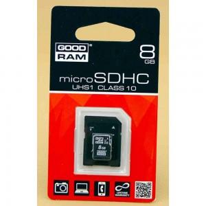 Карта памяти Goodram microSDHC, 8Gb, Class10 UHS-I, SD адаптер
