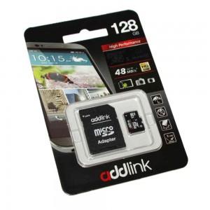 Карта памяти AddLink microSDXC, 128Gb, Class10 UHS-I, SD адаптер