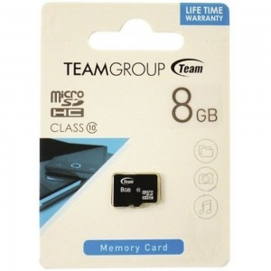 Карта памяти Team microSDHC, 8Gb, Class10, без адаптера